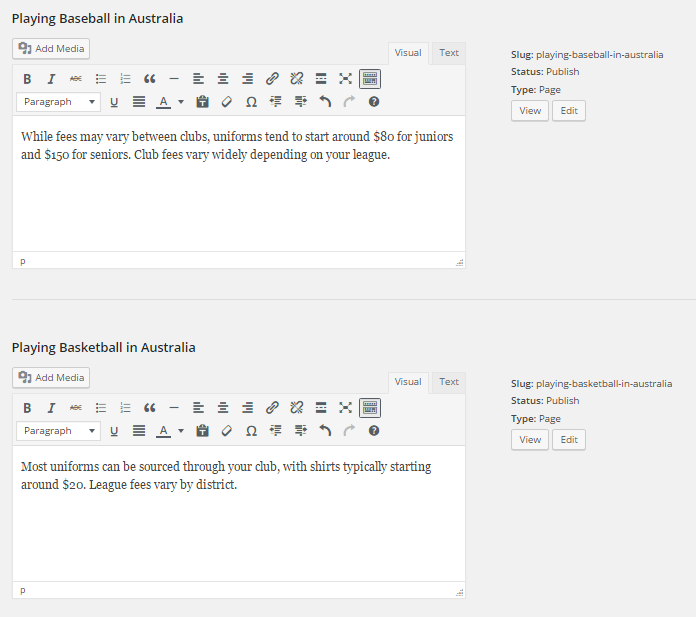 Full HTML bulk editor